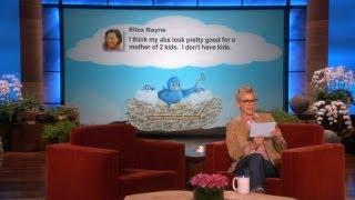 Ellen Reads Funniest Tweets About Kids, Abs, And Telepathy