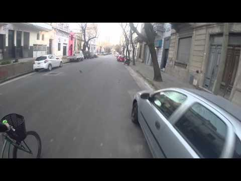 Bicyclist Vs The Robber With Gun In Argentina