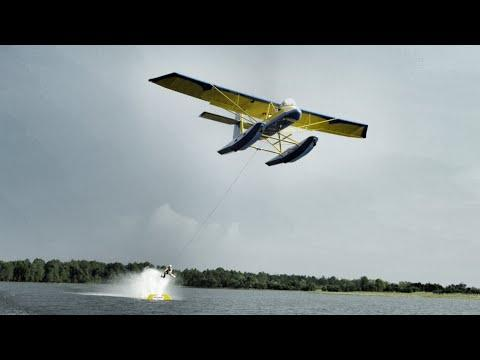 Epic Barefoot Waterskiing Using An Airplane