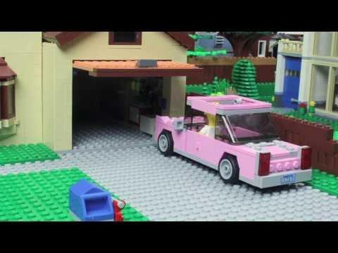 Simpsons Couch Gag Recreated Using LEGO