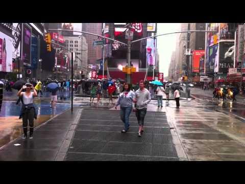 People - Quiet Streets In New York After Hurricane Irene