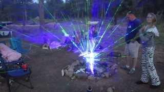 Camp Fire Laser Light Show